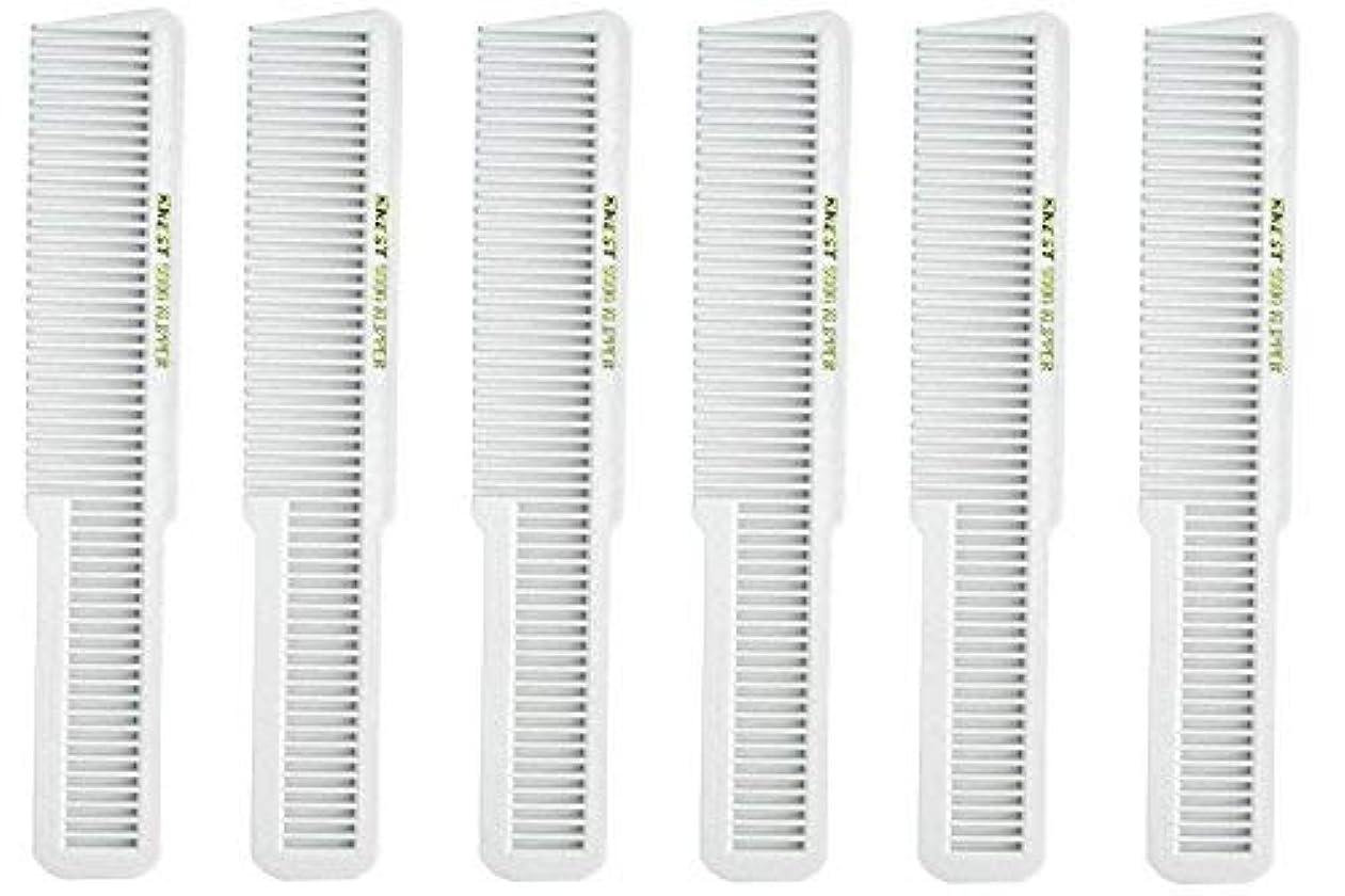 レイア飾る飼いならすBarber Beauty Hair Krest 9000 Clipper Cutting Comb (6 Pack) 6 x SB-K9000-WHITE [並行輸入品]