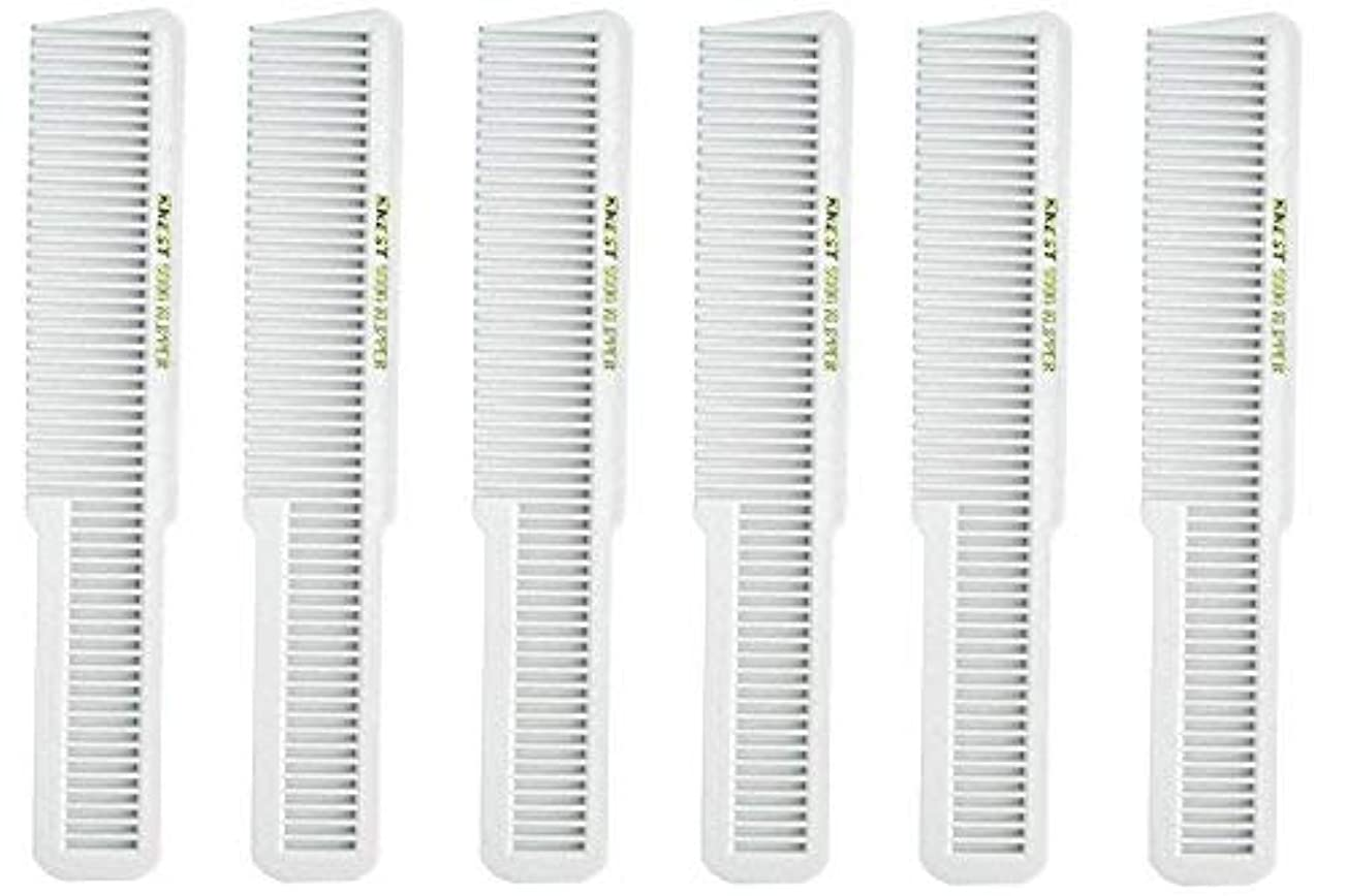外部小競り合い統計的Barber Beauty Hair Krest 9000 Clipper Cutting Comb (6 Pack) 6 x SB-K9000-WHITE [並行輸入品]
