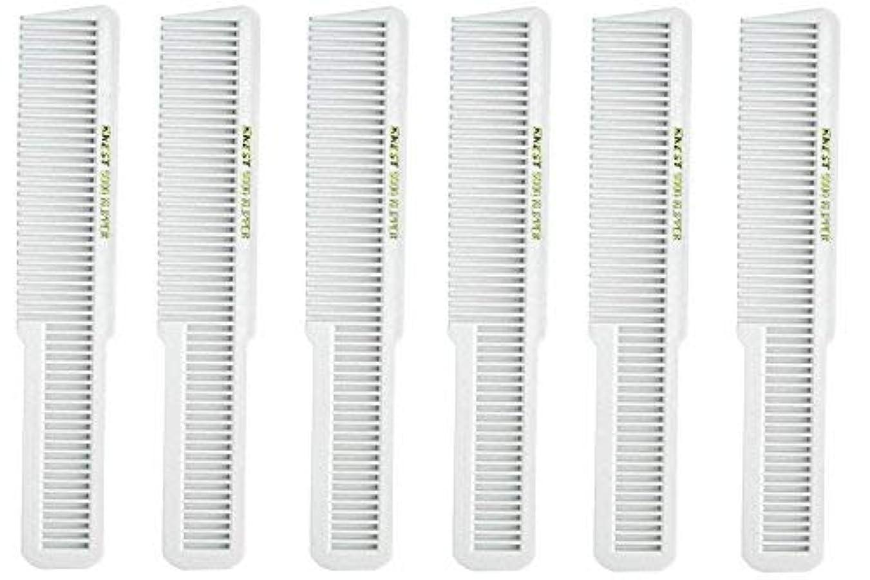 背の高い深遠弁護人Barber Beauty Hair Krest 9000 Clipper Cutting Comb (6 Pack) 6 x SB-K9000-WHITE [並行輸入品]