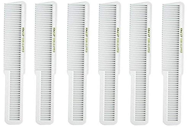 数学ながらコスチュームBarber Beauty Hair Krest 9000 Clipper Cutting Comb (6 Pack) 6 x SB-K9000-WHITE [並行輸入品]