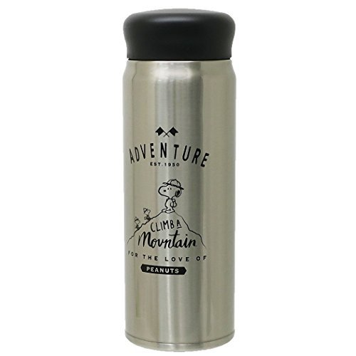 スヌーピー[保温保冷水筒]ミルク瓶型ステンレスボトル/ビーグ...