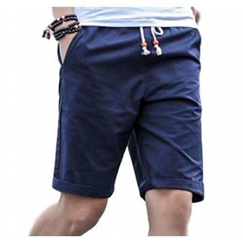 (ヴォンヴァーグ) ventvague 無地 カジュアル ショート ハーフ パンツ 半ズボン 短パン メンズ (01.M, ネイビー)
