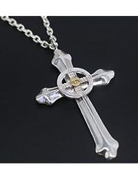 「silverKYASYA」シルバー925素材 ネイティブ クロス ペンダント 925 メンズ 十字架 メディスンホイール イーグル メタル クロス シルバー