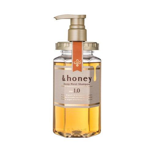 &honey &honey(アンドハニー) ディープモイスト シャンプー1.0 440ml ピオニーハニーの画像