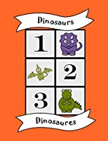 Dinosaurs: Bilingual Colouring Book, counting numbers, English French learn language, fun educational activity for kids, preschool, school, multilingual children baby