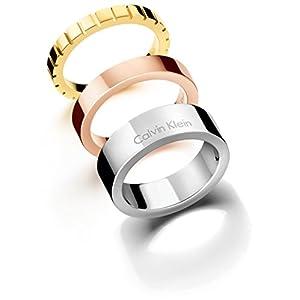 [カルバンクライン ジュエリー] CALVIN KLEIN JEWELRY 指輪 リング wonder(ワンダー) 3連リング ステンレス KJ5MDR300107 日本サイズ14号 (USサイズ7号)