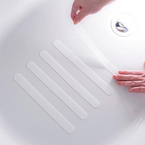 18枚入 浴槽 滑り止め バスマット 浴室マット バスルーム 滑り止めテープ キッチン 階段 プール 滑りやすい地面 転倒防止 耐熱性 防水 スリップマットストリップ 20*2cm