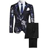 Cloudstyle Men's 2-Piece Suit Casual One Button Slim Fit Blazer Stylish Sport Coat & Trousers