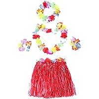 ラブリースカートの女の子のスカートのパフォーマンスの小道具草スカートレッド