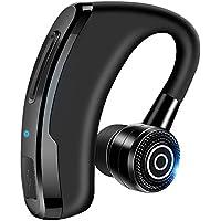 [進化版] Bluetooth ヘッドセット ワイヤレスイヤホン bluetooth 片耳 左右耳兼用 小型 軽量 スポーツ ビジネス 通勤 通学 車用 着信通知 ハンズフリー通話 マイク内蔵 iPhone Android各種対応 (black)