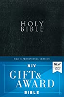Holy Bible: New International Version, Gift and Award, Leather-Look, Black, Red Letter Edition, New Easy to Read Comfort Print