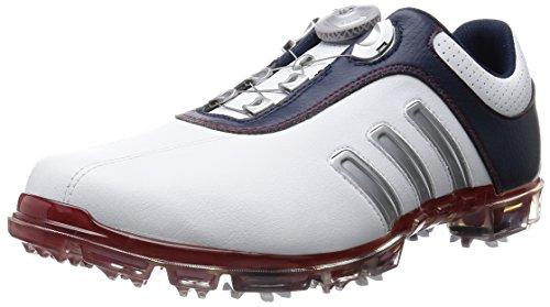 [アディダスゴルフ] Adidas Golf pure metal Boa Q44616 Q44616 (ホワイト/カレジエイトネイビー/パワーレッド/J 265)
