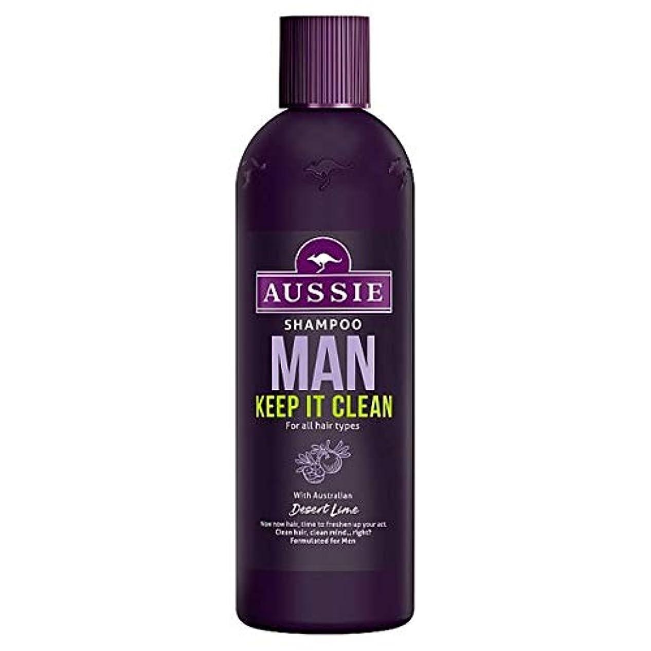 コショウしないでください回復[Aussie] オージー男はそれきれいなシャンプー300ミリリットル保ちます - Aussie Man Keep It Clean Shampoo 300Ml [並行輸入品]