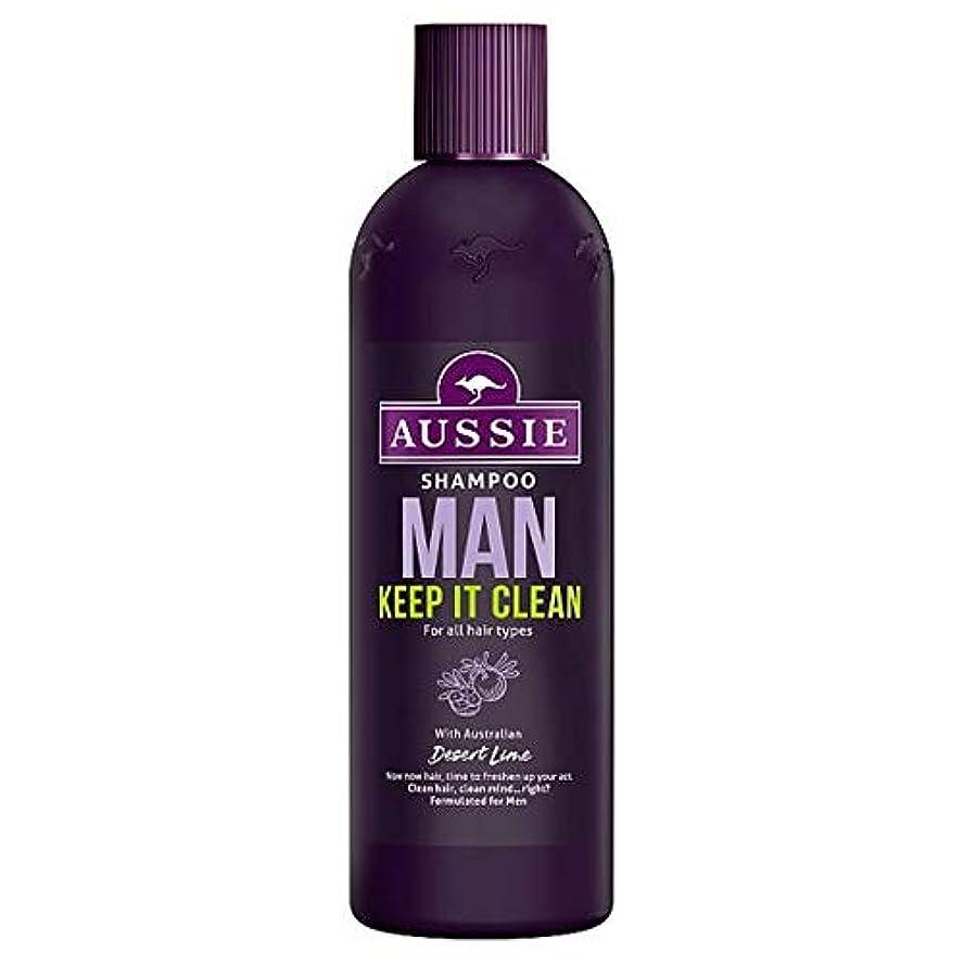 服鉛筆追記[Aussie] オージー男はそれきれいなシャンプー300ミリリットル保ちます - Aussie Man Keep It Clean Shampoo 300Ml [並行輸入品]