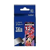 ブラザー ピータッチテープ ディズニーテープ ミニーレッド/白字 12mm TZE-MR35 【まとめ買い3個セット】