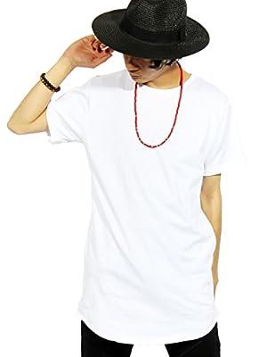 (エイト) 8(eight)5color ロング丈 半袖 Tシャツ 無地 日本製 カットソー 高品質 L ホワイト