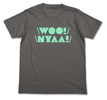 ニャル子さん 単調なうー! にゃー!のリズムTシャツ ミディアムグレー サイズ:M
