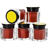 SUPVOX 5本タトゥー顔料インク眉アイライナーボディーアート塗料マイクロブレード色(コーヒー)