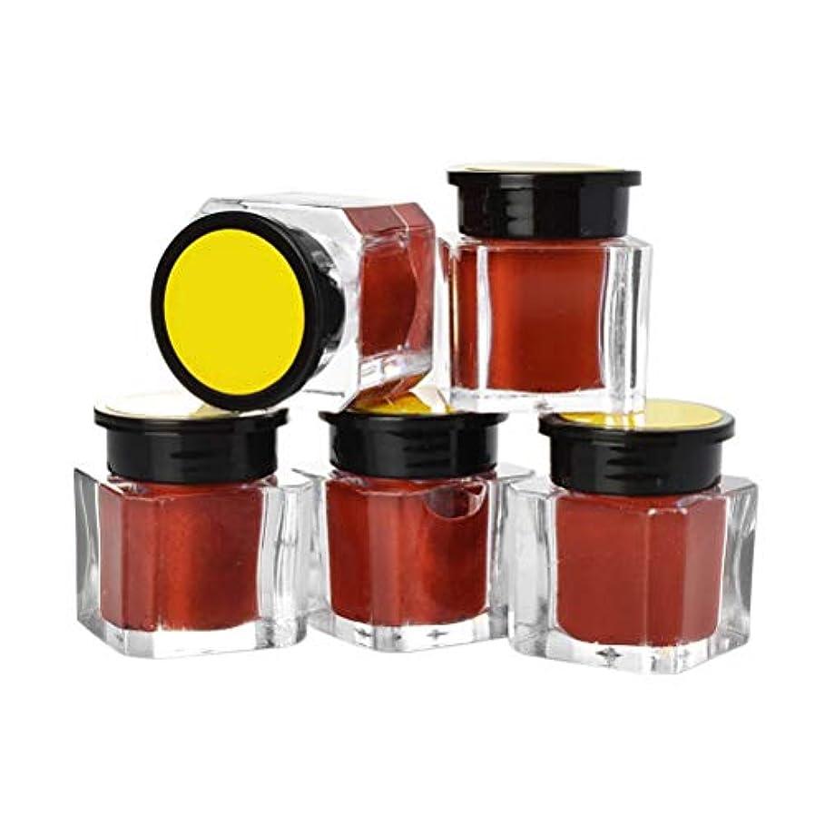 震えるあごひげ新鮮なHealifty 5ピースタトゥーインク顔料眉アイライナーボディーアート塗料マイクロブレードカラー顔料コーヒー