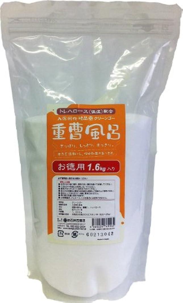 知覚する石リフト入浴用化粧品 「重曹風呂」 1.6kg入り(ラミジップ袋) スプーン付き トレハロース(保湿)配合
