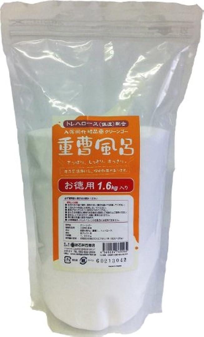 かび臭い申し立てられた異なる入浴用化粧品 「重曹風呂」 1.6kg入りx6袋セット(カートン入り) スプーン付き トレハロース(保湿)配合