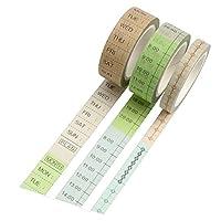3つのロール創造プランナーDIY紙テープ装飾粘着テープステッカーテープクラフトのすべての種類