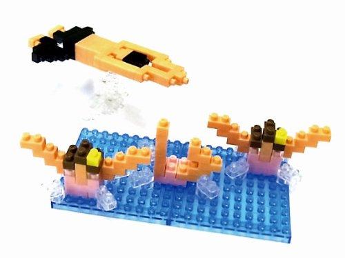 ナノブロック × 大図まこと 水泳 (シンクロナイズドスイミング&平泳ぎ)