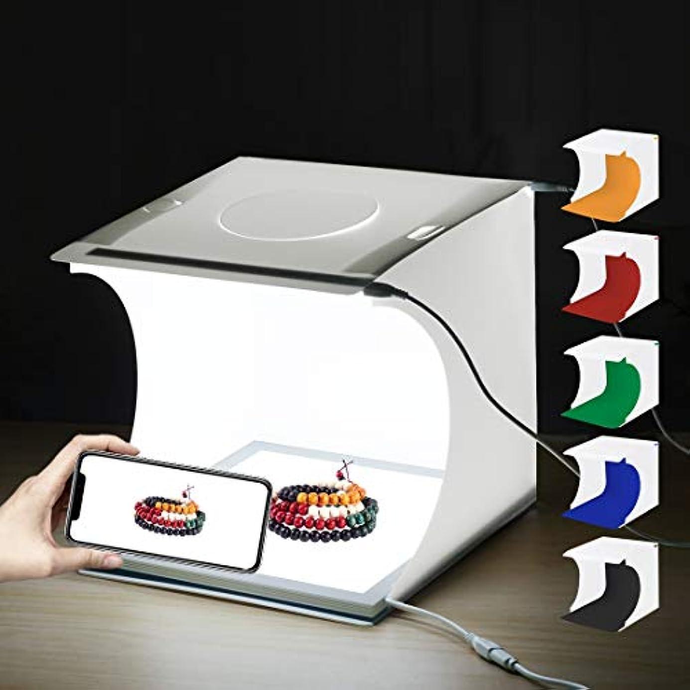 効率的迷惑弱まるGM ライトボックス写真, ライトボックス、ミニLED写真無影灯ランプパネルパッド+スタジオ撮影テントボックス、アクリル素材、20 cm x 20 cm有効面積