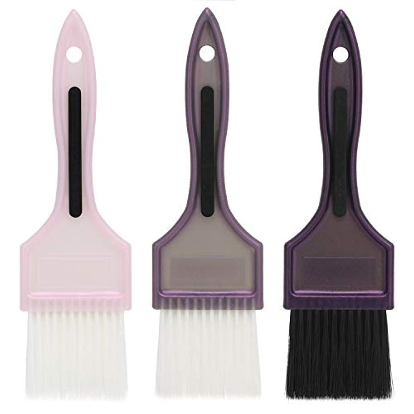 表面的な緯度好むSegbeauty 髪染め用 ヘアダイブラシ 3本セット カラーブラシ