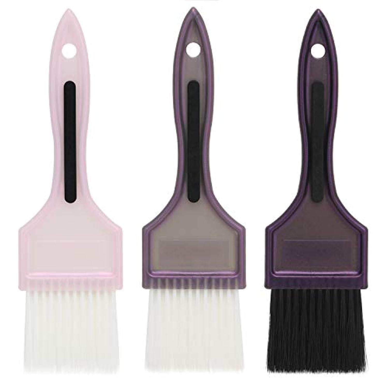 弁護人適度に適用済みSegbeauty 髪染め用 ヘアダイブラシ 3本セット カラーブラシ