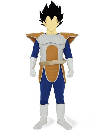 Dragon Ball Z Vegeta combat dress costume mens free