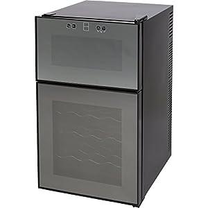 ワインセラー 24本 2ドア タッチパネル 上下段別温度設定 ミラーガラス APWC-69D