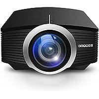 GooDee ミニ小型LEDプロジェクター1800lm・1080p対応パソコン/スマホ/タブレット/ゲーム機など接続可 ホームシアター・ゲーム機用