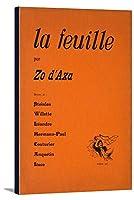 La Feuille (カバー)ヴィンテージポスターフランス 24 x 36 Gallery Canvas LANT-3P-SC-63790-24x36