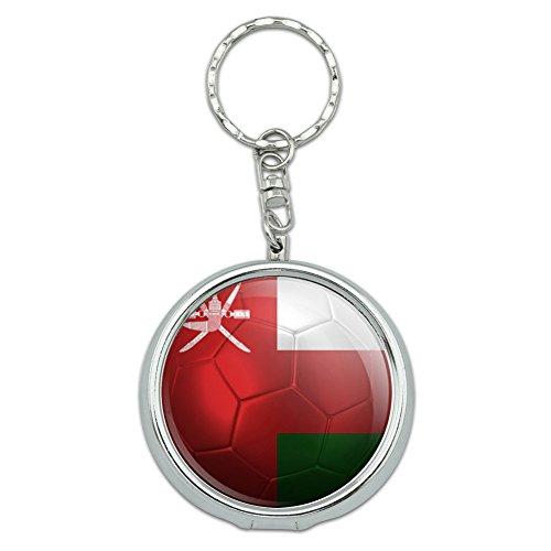 オマーンの旗サッカーボールフットボルサッカー携帯灰皿キーホルダー