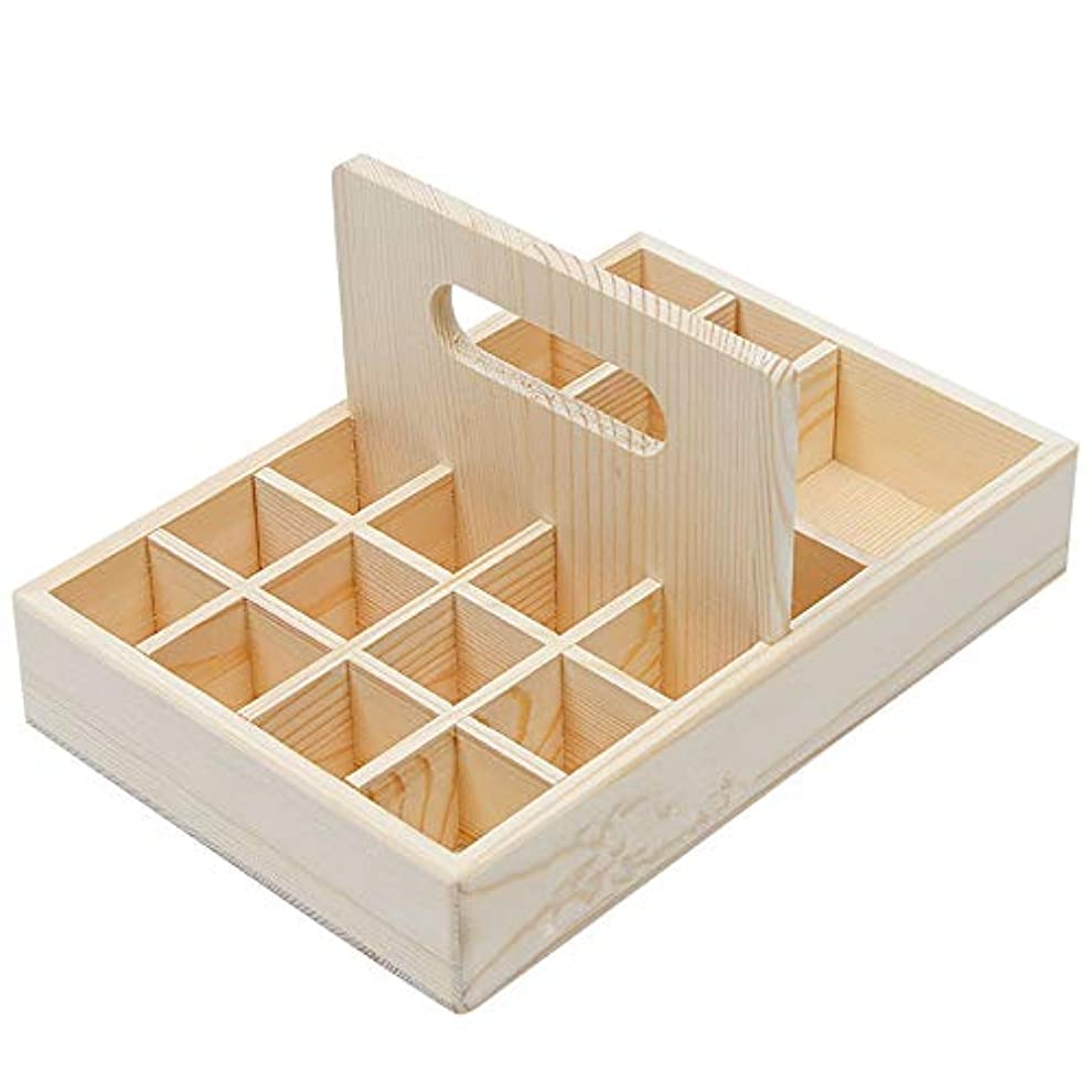 アンペア二常にエッセンシャルオイル収納ボックス エッセンシャルオイル香水コレクションディスプレイスタンド 21本用 木製エッセンシャルオイルボックス メイクポーチ 精油収納ケース 携帯用 自然ウッド精油収納ボックス 香水収納ケース