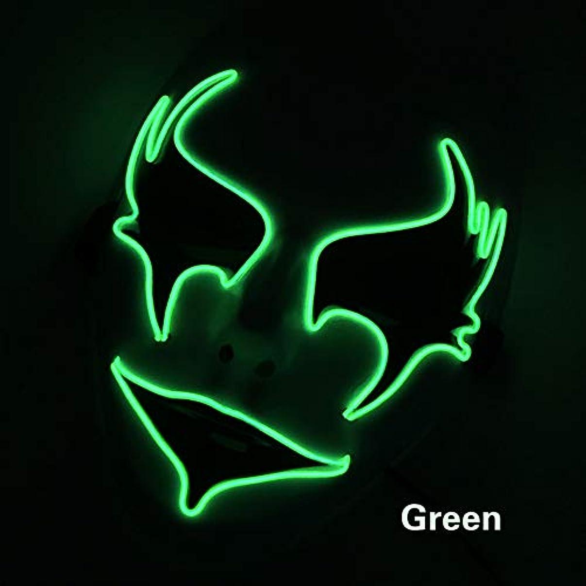 割り当て愛国的な特権的手塗り ウォーターヒヤシンス イルミネーション LED ハロウィン マスク 2個 EL ワイヤー コスプレ フェスティバル 化粧 パーティー マスク (18×18Cm) MAG.AL
