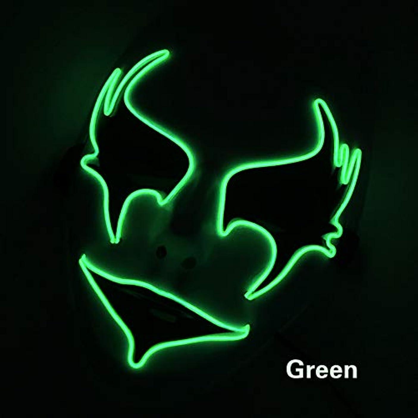 遺跡永久に尊敬手塗り ウォーターヒヤシンス イルミネーション LED ハロウィン マスク 2個 EL ワイヤー コスプレ フェスティバル 化粧 パーティー マスク (18×18Cm) MAG.AL