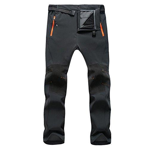 FAVORABLE SCENERY 防水防風防寒 アウトドアパンツ スキー登山キャンプ用パンツ裏フリース 厚手 全3色S-3XL LY20 (M, グレー)