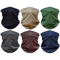 5 PCS UV Headwear Versatile Outdoors Head Wrap,Neck Gaiter, Fishing Mask,Magic Scarf,Tube Mask, Face Bandana Mask,Neck Balaclava and Sport Scarf Multifunctional Stretchable (5PCS-Set-9)
