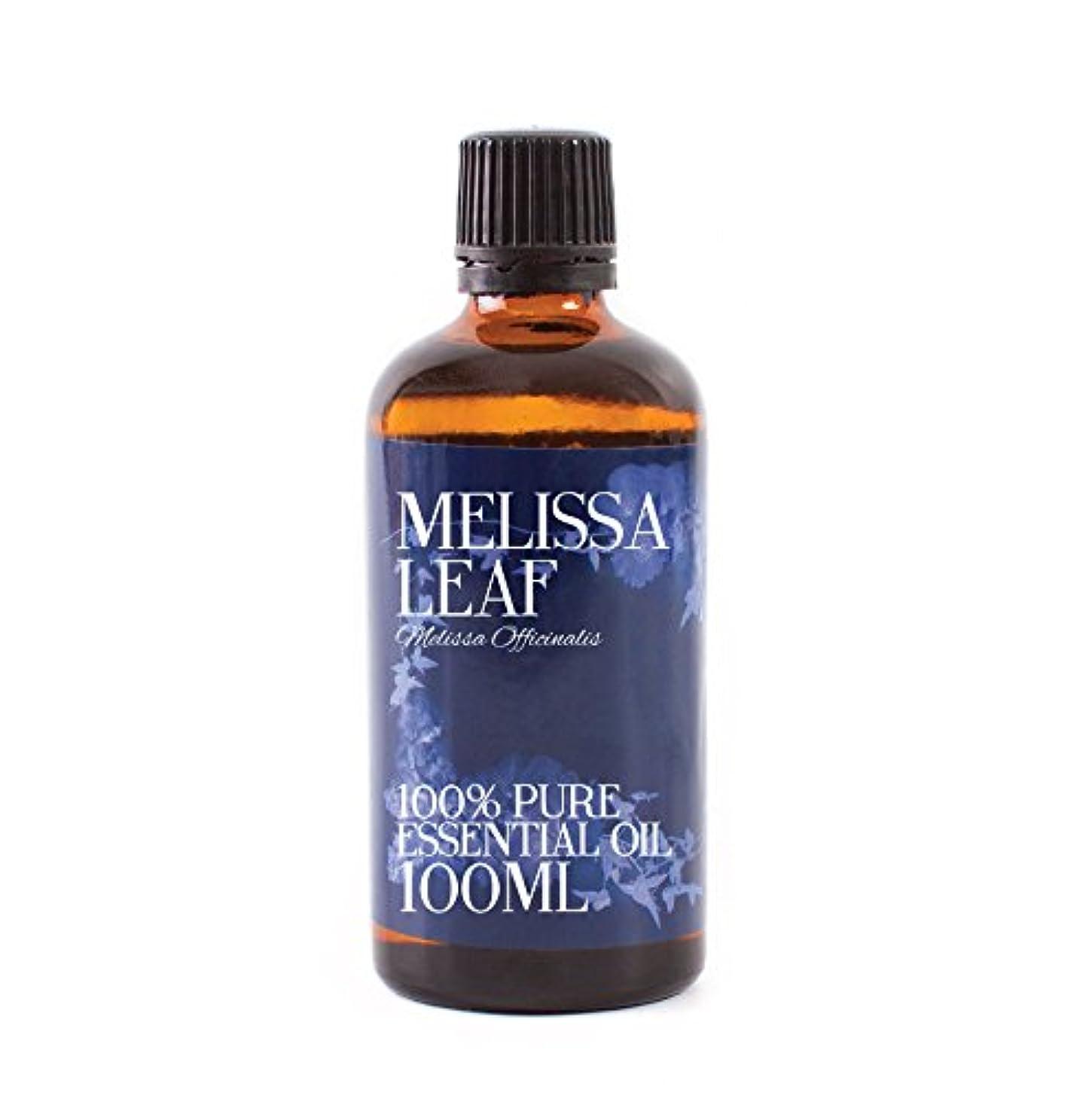 知覚する債務者滑りやすいMystic Moments   Melissa Leaf Essential Oil - 100ml - 100% Pure
