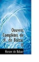Oeuvres Completes de H. de Balzac II