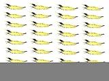 【オルルド釣具】ソフトシュリンプワーム(エビワーム)  約9.5cm 3g 30個セット ソフトルアー 海老ワーム 子供や餌のつけられない女性に最適 落とし込みでのタイ狙いなど 探り釣り ブラックバス・シーバスなどにも最適 ブラックヘッド&ブラックテイル 頭尻尾黒 30個 qb100060a31n0