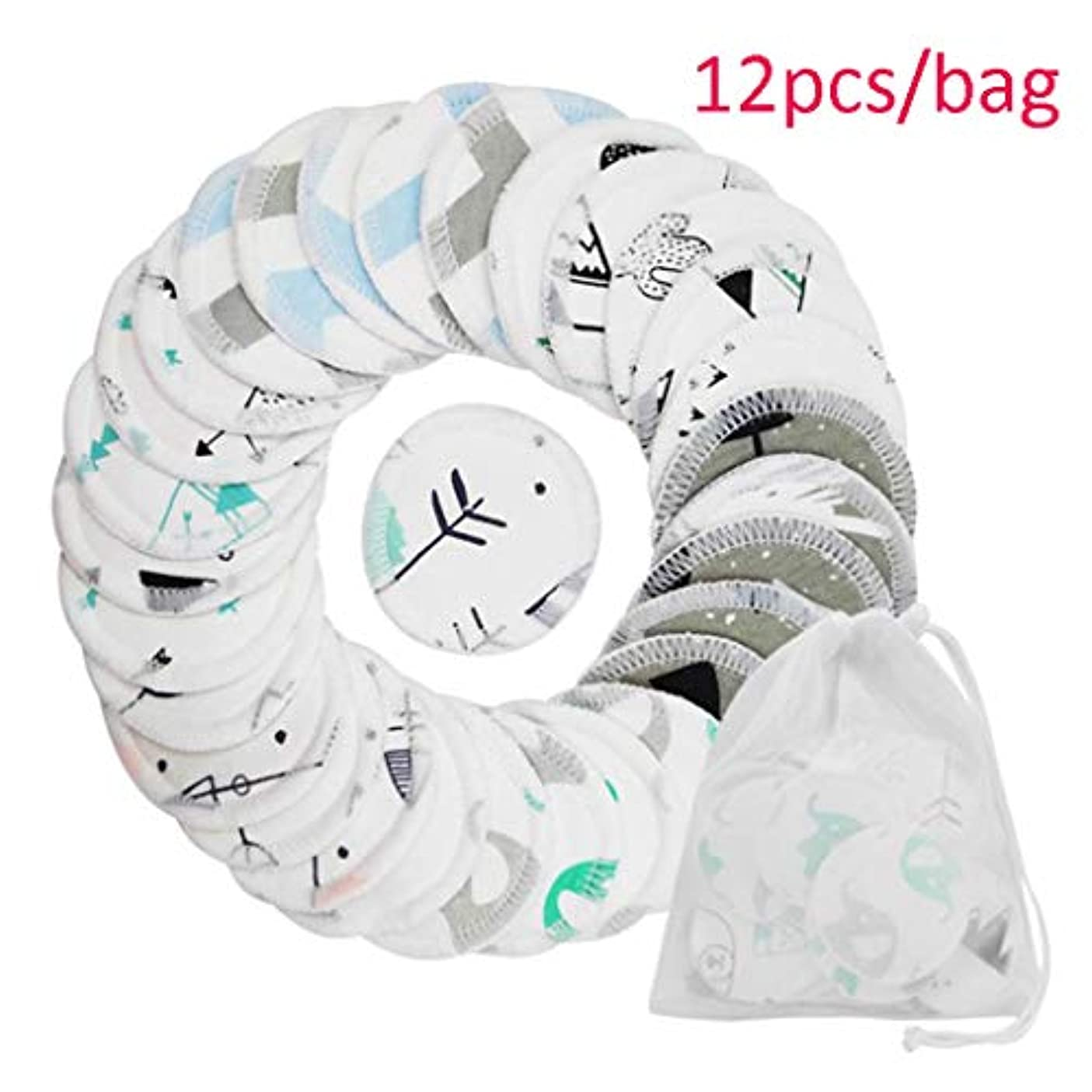 クレンジングシート 再利用可能な洗濯布パッド3層洗える綿ソフトメイクアップリムーバー布用女性の女の子化粧道具 (Color : White, サイズ : A(12pcs/bag))
