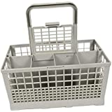 Prettyia 8 Slot Dishwasher Cutlery Basket Cage Spoon Rack Universal with Handle Lid