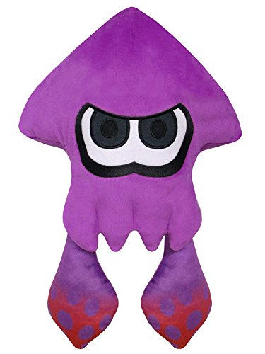 [해외]스 플래툰 2 Splatoon2 큰 오징어 네온 퍼플 인형 높이 43cm SP23/Splatoon 2 Splatoon 2 Big Squid Neon Purple Plush Doll Height 43 cm SP 23