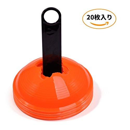 [해외]마커 콘 칼라 콘 축구 트레이닝 스케이드 보드 스포츠 게임 주황색 장애물 20 개 세트/Marker Corn Color Corn Soccer Training Skateboard Soccer Sports Game Orange 20 obstacles included