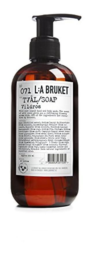 符号クロールピルファーL:a Bruket (ラ ブルケット) ハンド&ボディウォッシュ (ワイルドローズ) 250g
