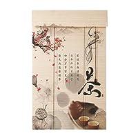 LIANGJUN 竹ロールスクリーン竹はウィンドウシェードを竹すだれ竹製カーテンパーティション 背景の壁 デコレーション 防塵 日焼け止め 通気性 窓 レストラン、 カスタマイズ可能 (Color : A, Size : 130x250cm)