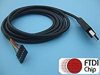 FTDI–ttl-232r-3V3–USB toシリアルコンバータケーブル、3.3V、6ピン